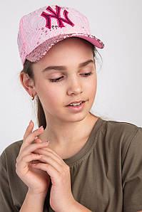 Кепка с пайетками для девочек на лето - NY(к25)