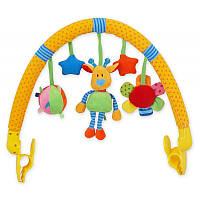 Дуга в коляску с игрушками Baby mix TE-9027- 94A жирафка, 36х33х7 см. (1718)