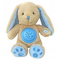 """Проектор ночник детский музыкальный """"Кролик"""" 25 см. Baby Mix STK-18957, голубой"""