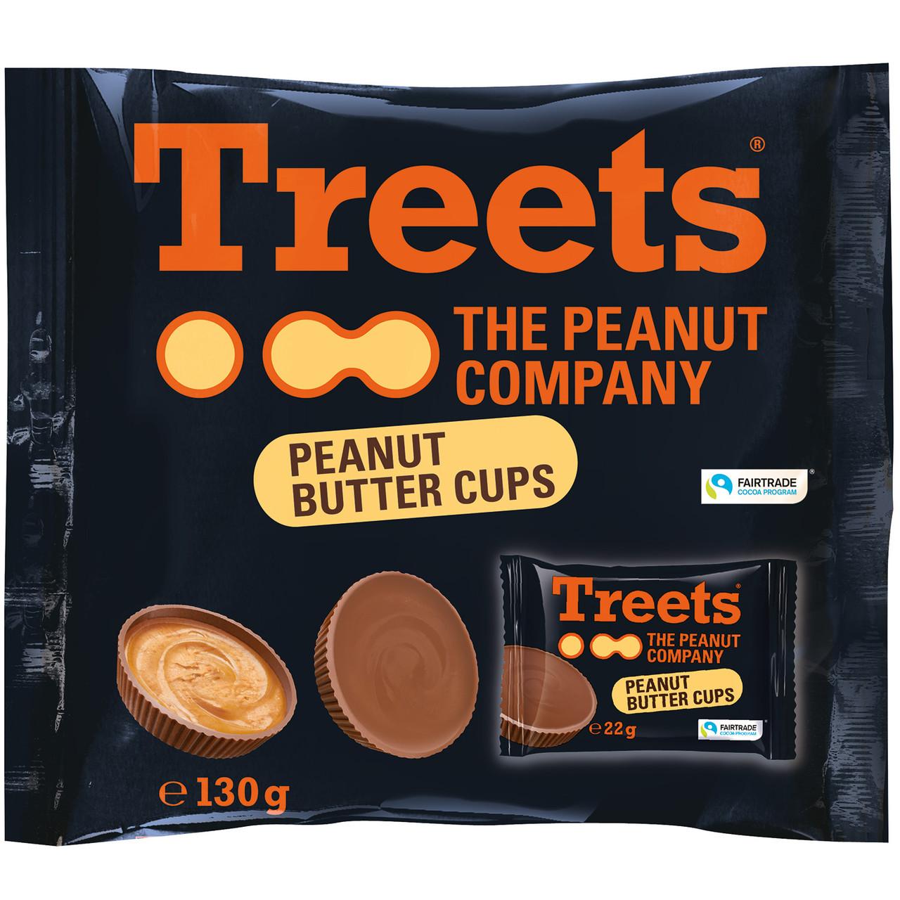Шоколадные конфеты Treets Peanut Butter Cups 130 g