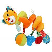 Детская игрушка плюшевая спираль для кроватки Baby Mix STK-15035TI Тигр, 50 см. (5990)