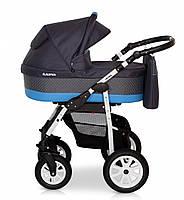 Детская универсальная коляска 2 в 1 Verdi Laser 08, темно-синяя (7871)