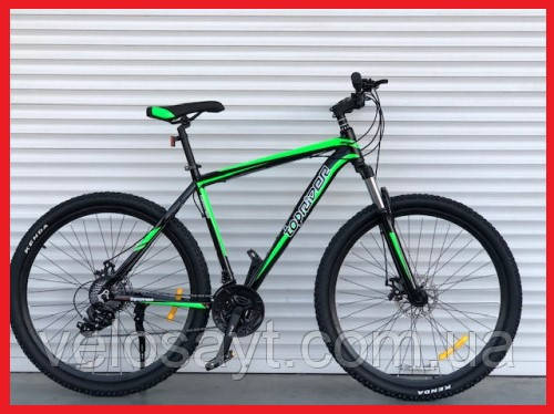 """Горный Алюминиевый Велосипед TopRider 27,5 дюймов""""901  размер рамы 17"""" салатовый"""