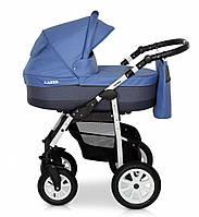 Детская универсальная коляска 2 в 1 Verdi Laser 13 с регулируемой спинкой для детей 0-3 лет, синяя