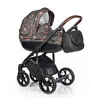 Универсальная детская коляска 2 в 1 Roan Bass Soft My Sweet Unicorns, коричневая (8508)