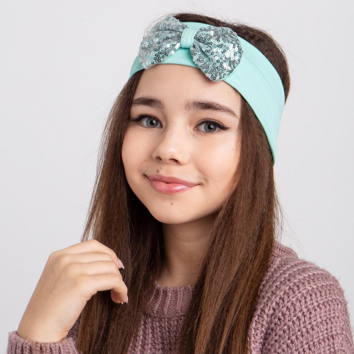 Повязка на голову - двойная для девочки  Артикул 2470