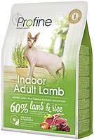 Profine Cat Indoor 300г сухой корм с ягненком и рисом для котов живущих в помещениях