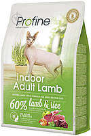 Profine Cat Indoor 2кг сухой корм с ягненком и рисом для котов живущих в помещениях
