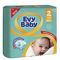 Підгузники дитячі Evy Baby Mini 2 (3-6 кг) 80 шт.