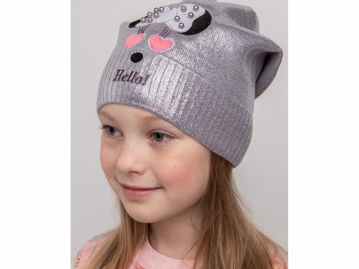 Стильна шапочка для дівчинки на весну-осінь Hello Minny оптом - Артикул KR 2082