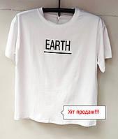 Качественная  футболка женская трикотаж  лето 2020 года Китай  50, 52р Батал белая, черная