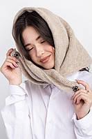 Стильная шерстяная косынка для девочек и женщин на кнопках Квинс оптом