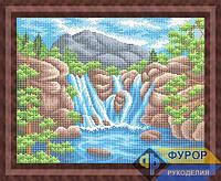 Схема для вышивки бисером - У водопада, Арт. ПБп3-076