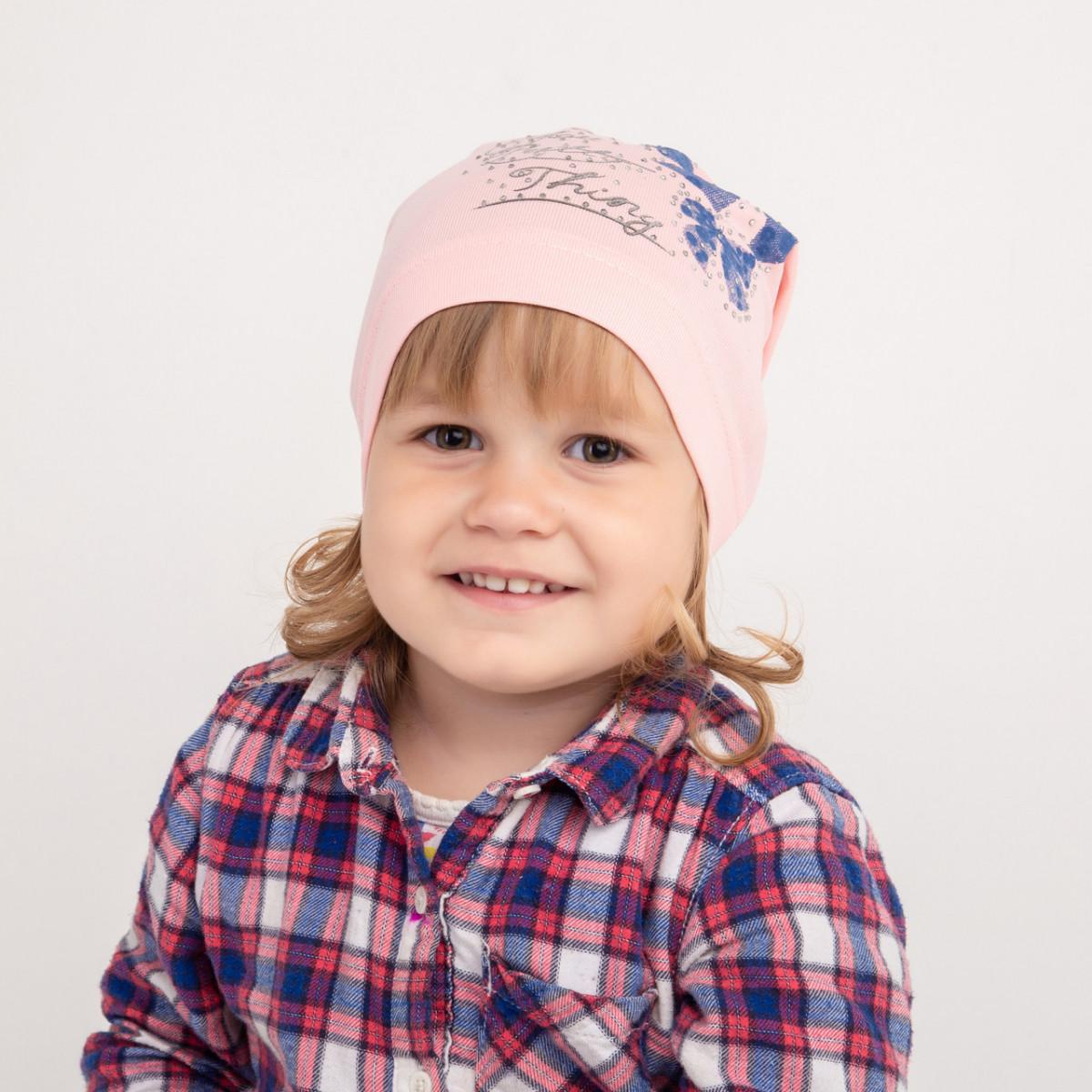 Бавовняна шапка для дівчинки на весну-осінь оптом- Pretty - Артикул 2319