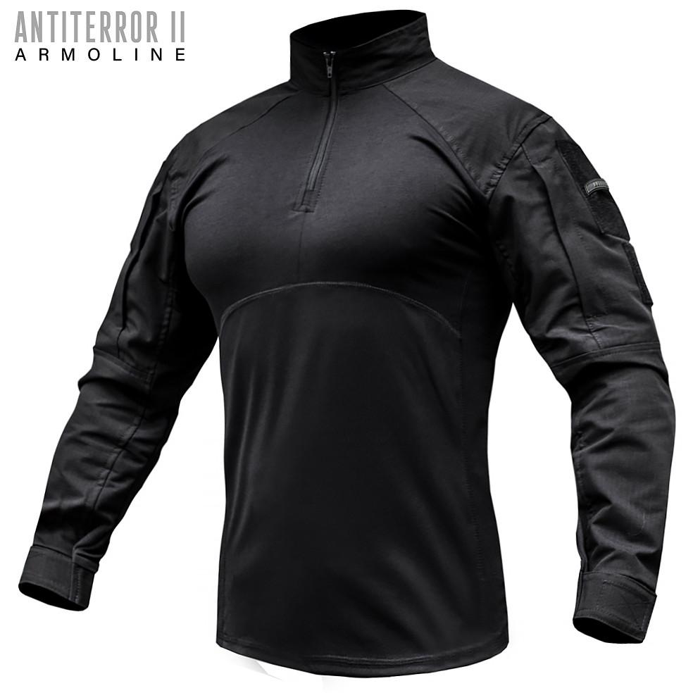 Рубашка UBACS тактическая ANTITERROR II BLACK (ВИДЕО)