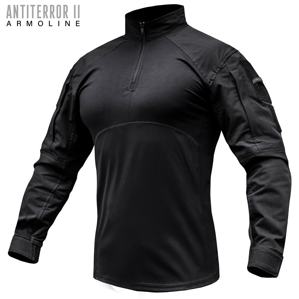 Сорочка UBACS тактична ANTITERROR II BLACK (ВІДЕО)