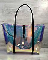 2в1 Молодежная Перламутровая силиконовая сумка с черным
