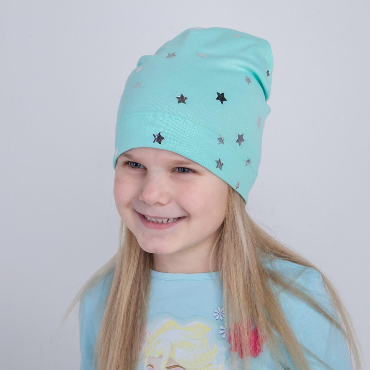 Шапка для дівчаток на весну-осінь оптом - Stars - Артикул 2215