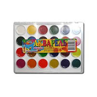 Акварель 24 цвета «Колорит» пластик