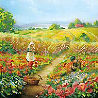 """Схема для вышивания бисером на художественном холсте """"На лужайке"""""""