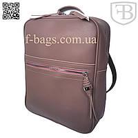 Рюкзак женский, сумка рюкзак женская для девочки из кожзама Pink Purple 42018#