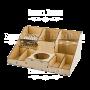 Деревянный органайзер FDPO-07.  для кисточек и красок