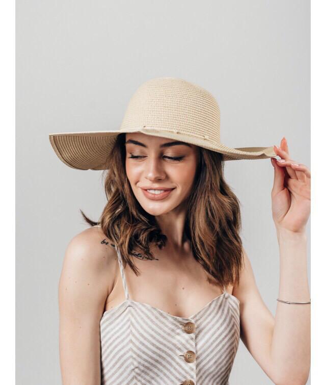 Шляпа широкополая Мадин песочная