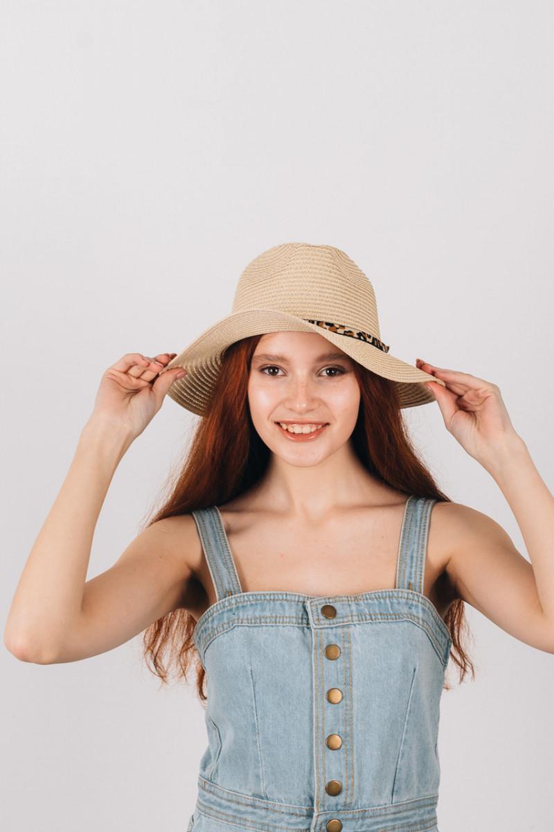 Шляпка федора Перис молочная