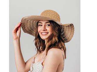 Шляпка широкополая Кими оптом SHL-2049