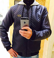 Мужская курточка стеганая черная 6844, фото 1