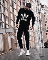 Спортивный костюм + МАСКА Adidas Trine x all black мужской летний весенний / ЛЮКС качества