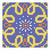 Схема на ткани для вышивания бисером игольницы Г-06
