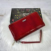 Кошелек-клатч Balisa из кожи под лаком красный
