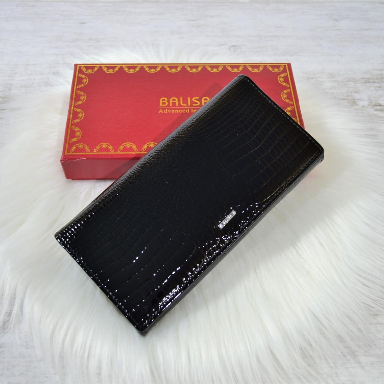 Кошелек Balisa Classic из кожи под лаком черный