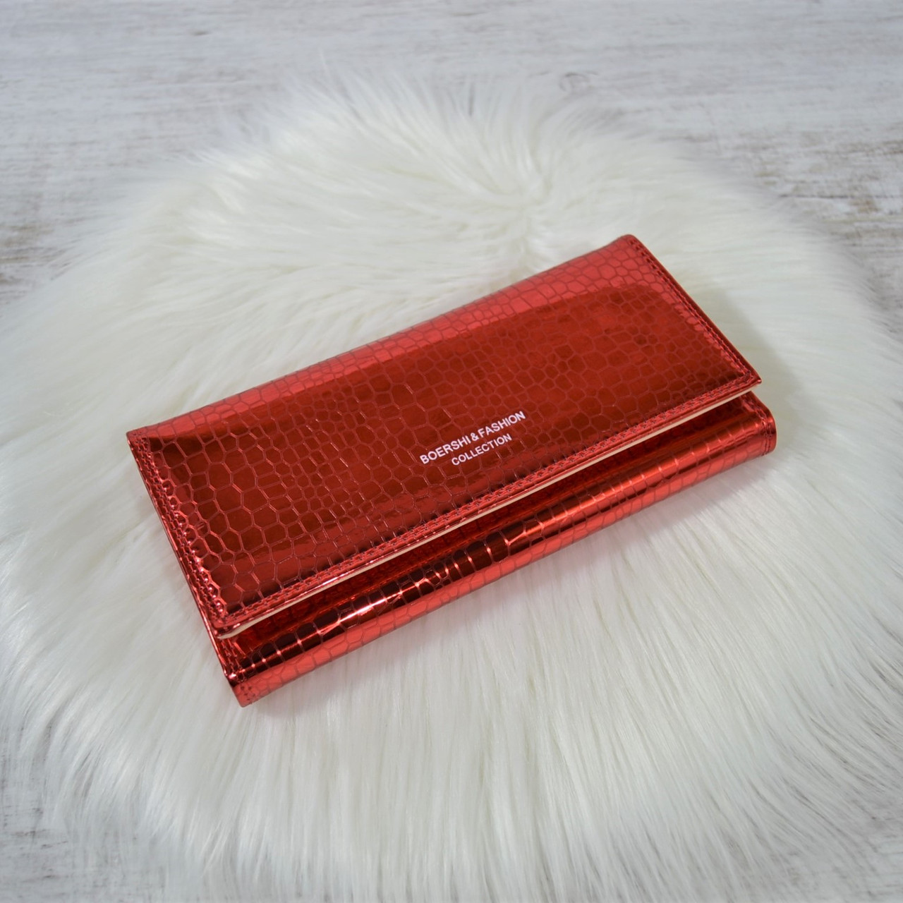 Кошелек Fashion Collection яркий металлик красный