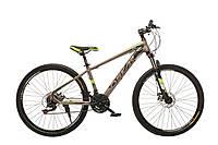 """Велосипед Oskar 27,5""""1857 серый (рама - сталь, переключатели Chuanda)"""