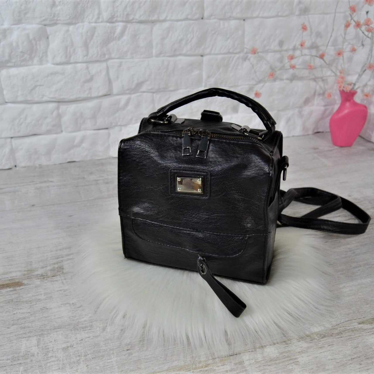 Сумка-рюкзак Fashion Lusha Компакт городская черная