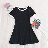 Женское спортивное платье с окантовкой из двухнити
