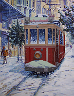 """Схема для вышивания бисером """"Трамвайчик"""""""