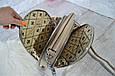 Сумка кросс-боди David Jones Paris с ремешком на цепочках пудровая , фото 9