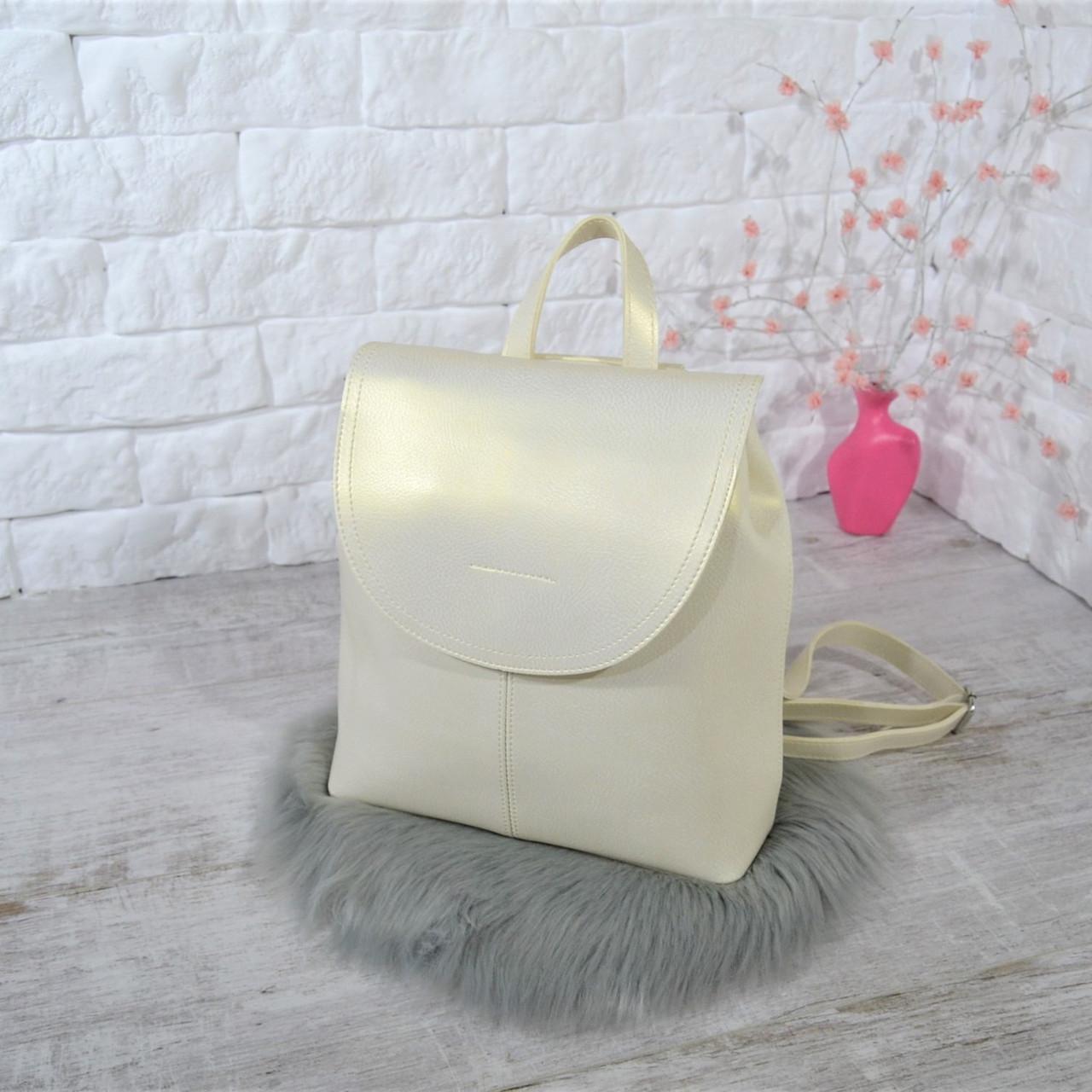 Рюкзак Star с переливами белый