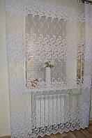 "Гардина Фатин ""Хвост жар-птицы"" белая., фото 1"