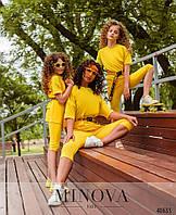 Лёгкий спортивный костюм в яркой расцветке для девочек на рост от 110 до 164 см