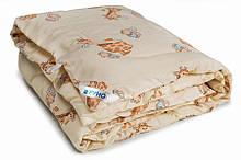 Детское одеяло закрытое однотонное овечья шерсть (Микрофибра) 110x140 T-54773
