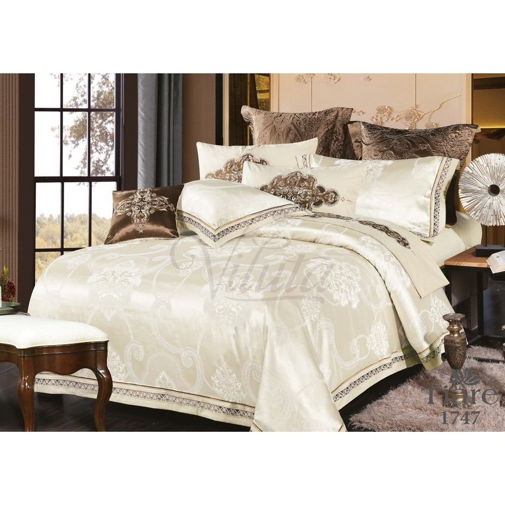 Семейный Комплект постельного белья Viluta Сатин Жаккард Tiare 1747
