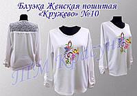 Пошитая женская блуза под вышивку КРУЖЕВО №10