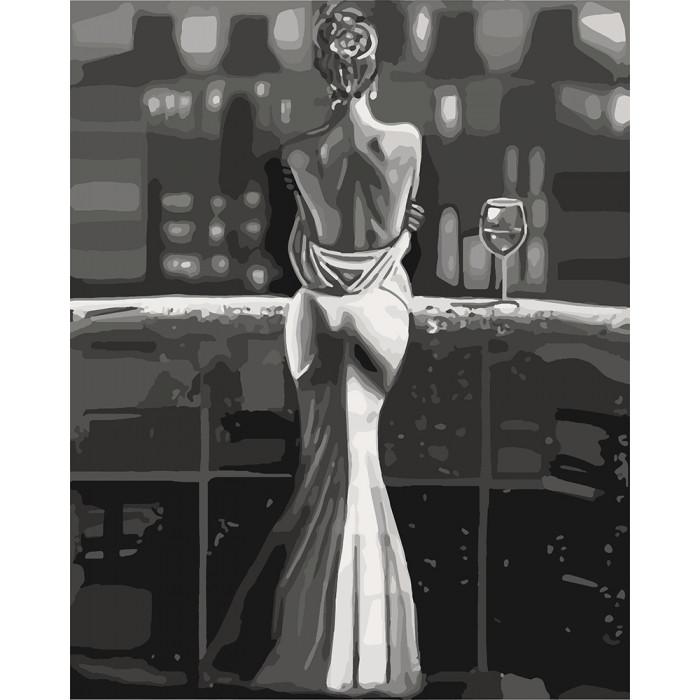 """Картина за номерами. """"Споглядаючи місто"""" 40х50см арт. КНО4611"""