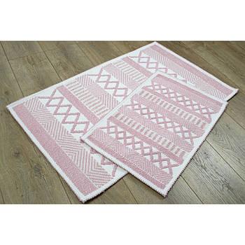 Набор ковриков Irya - Kitaro pudra пудра 60*90+40*60