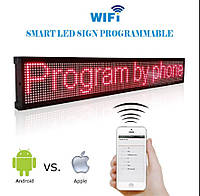 Бегущая строка светодиодная 100 х 20 см красная Wi-Fi