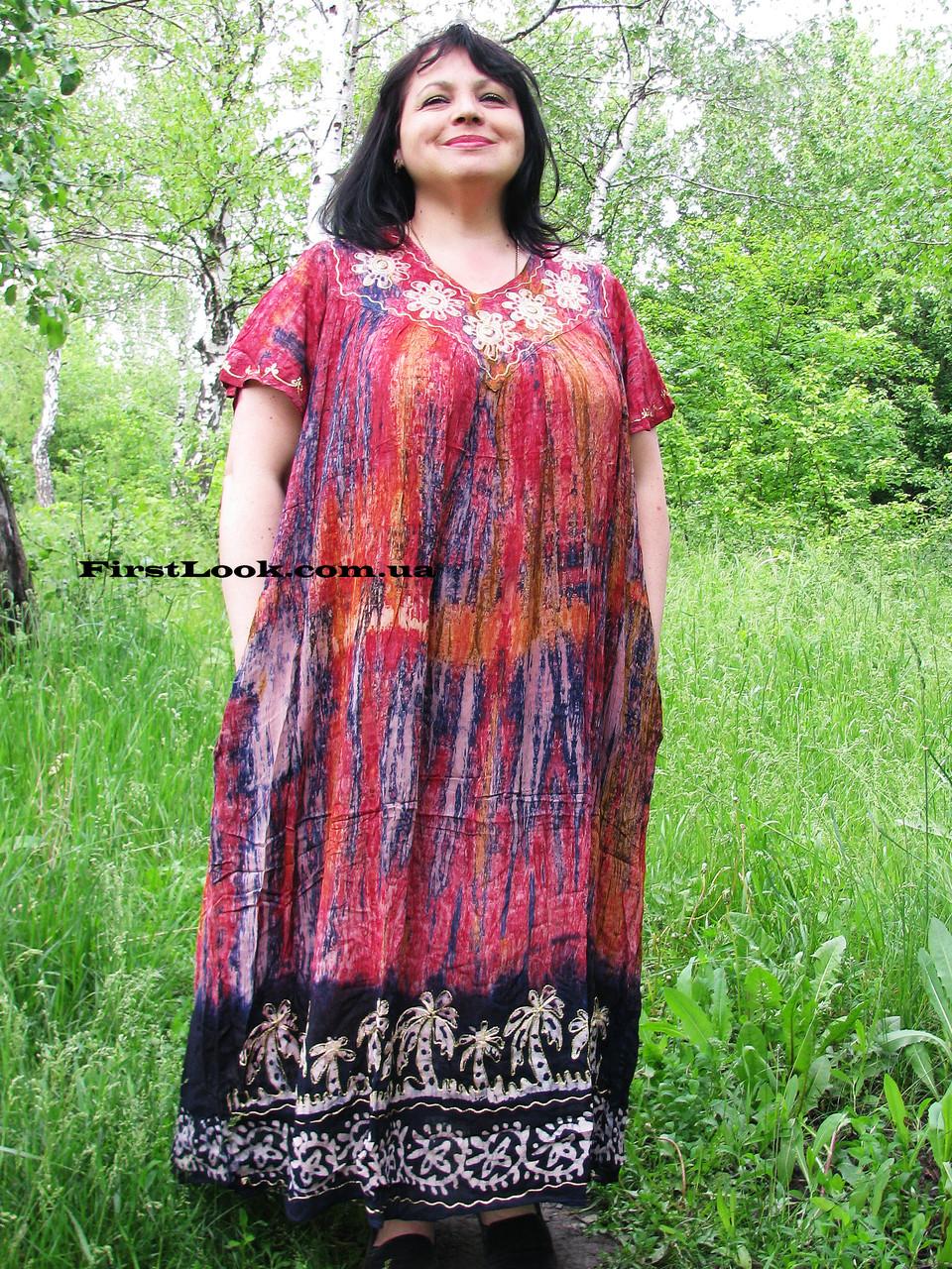 Женское платье летнее- ламбада (с 58 по 68 размер)
